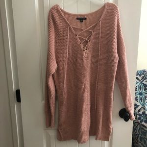American Eagle Sweater Tunic With Adjustable Laces